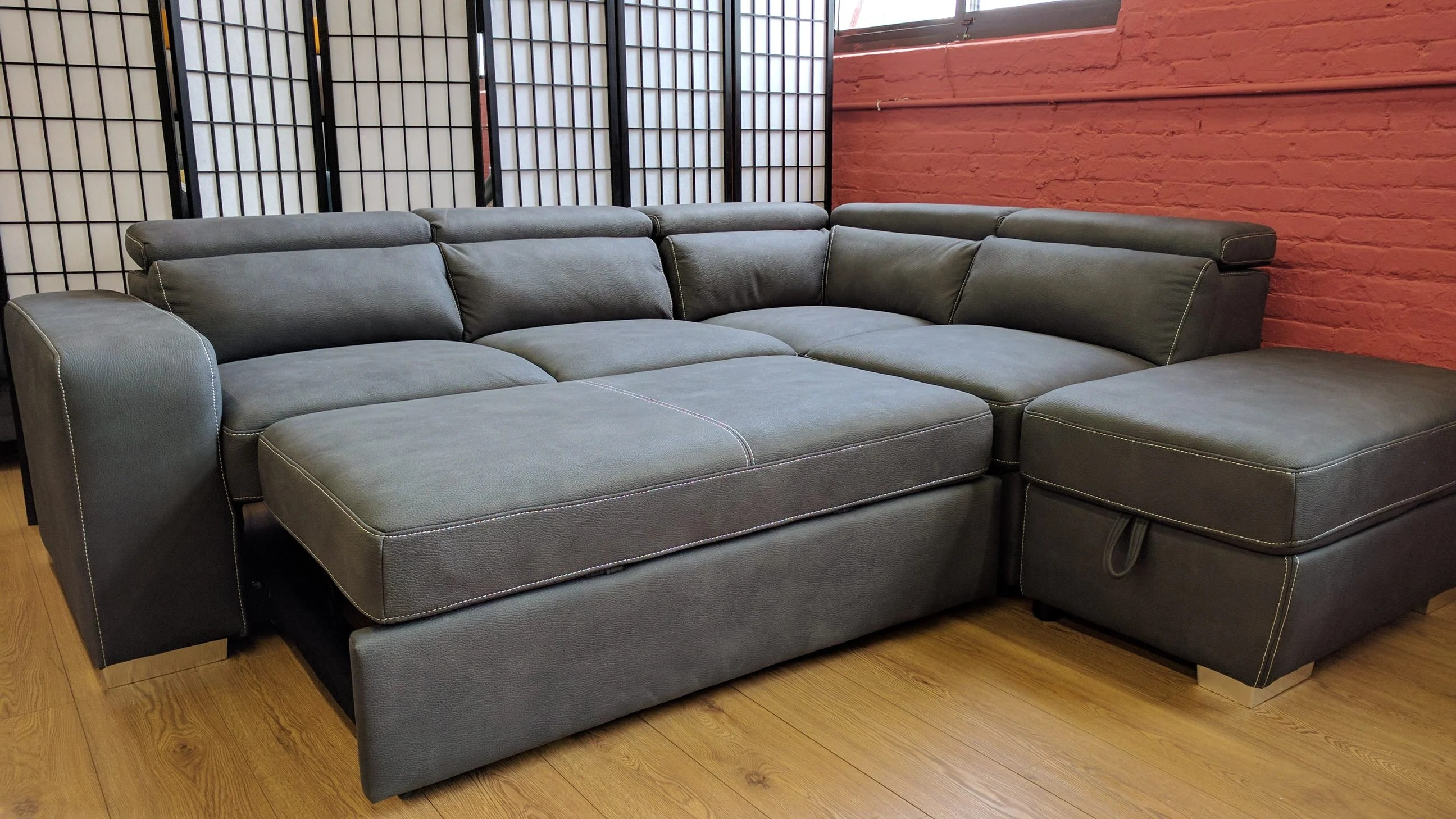 Abby Sleeper Sectional Gray By Primo