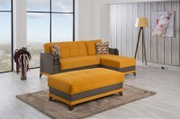 Almira Riva Orange Sectional Sofa by Casamode