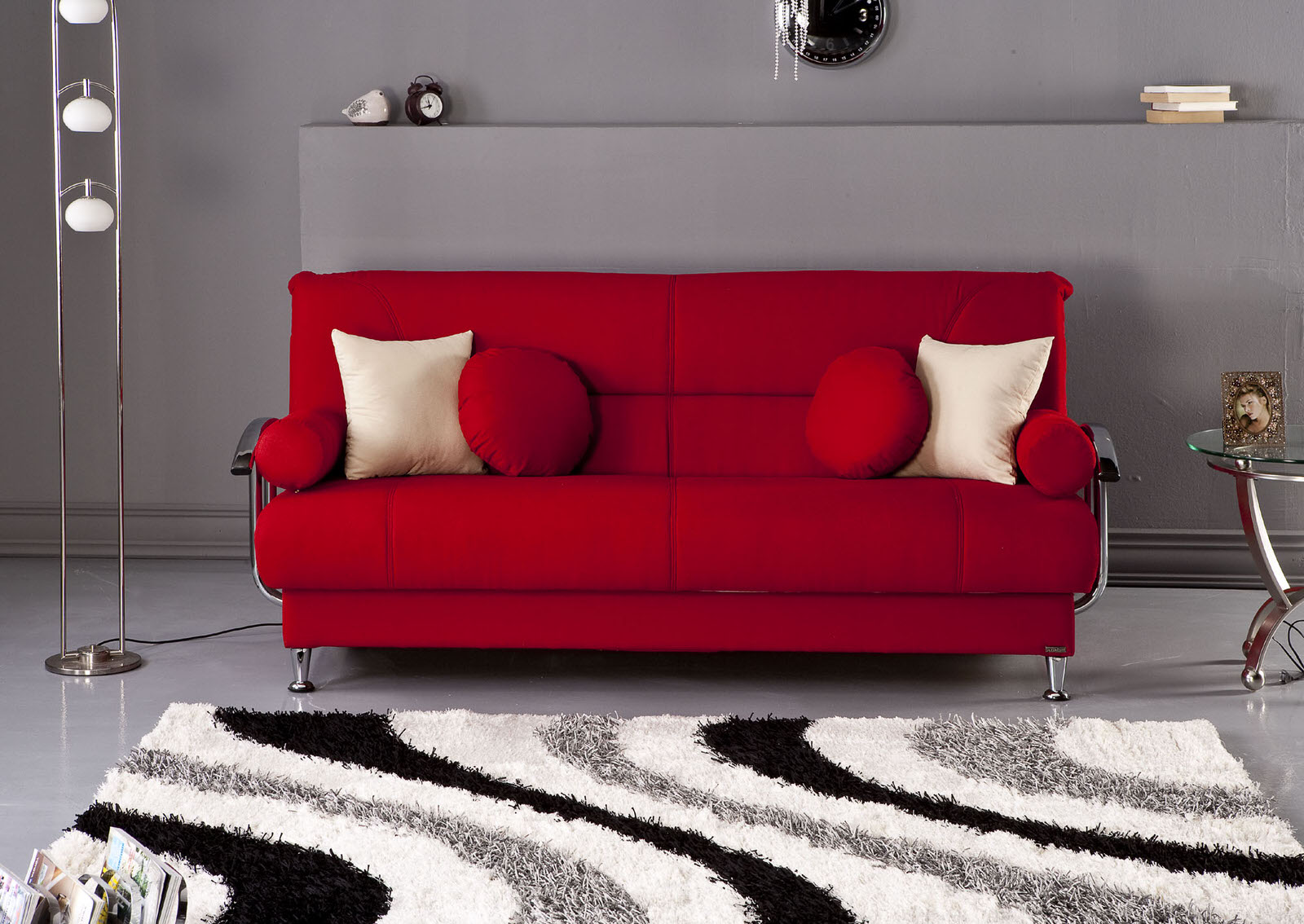 Best Tetris Red Convertible Sofa Bed by Sunset