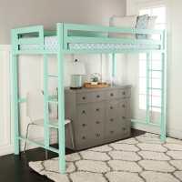 Bentley Twin Loft Bed - Mint by Walker Edison