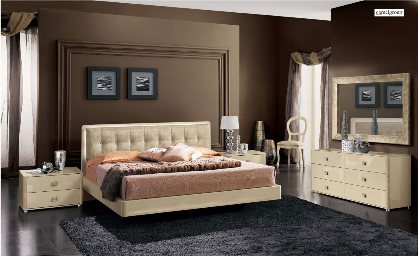 La Star Ivory Composition 3 With Plano Bed Camel Bedroom