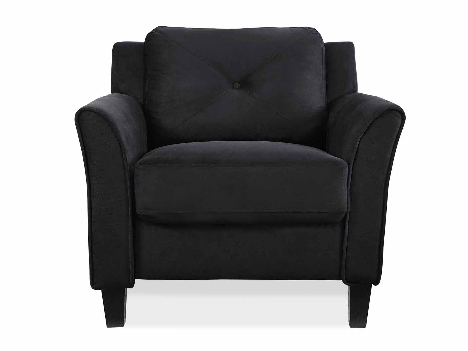 Hartford Black Chair with Curved Arm by Lifestyle