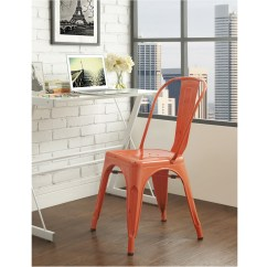 Orange Cafe Chairs Poang Chair Metal Clementine By Walker Edison