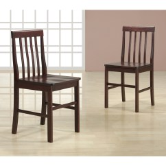Espresso Dining Chair Covers For Table Wood Chairs Set Of 2 By Walker Edison
