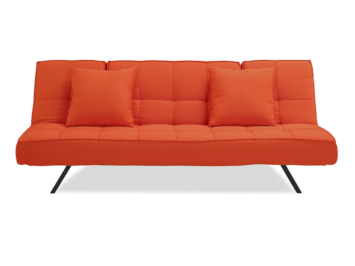 tangerine sofa comfortable modern sofas copa convertible by serta lifestyle