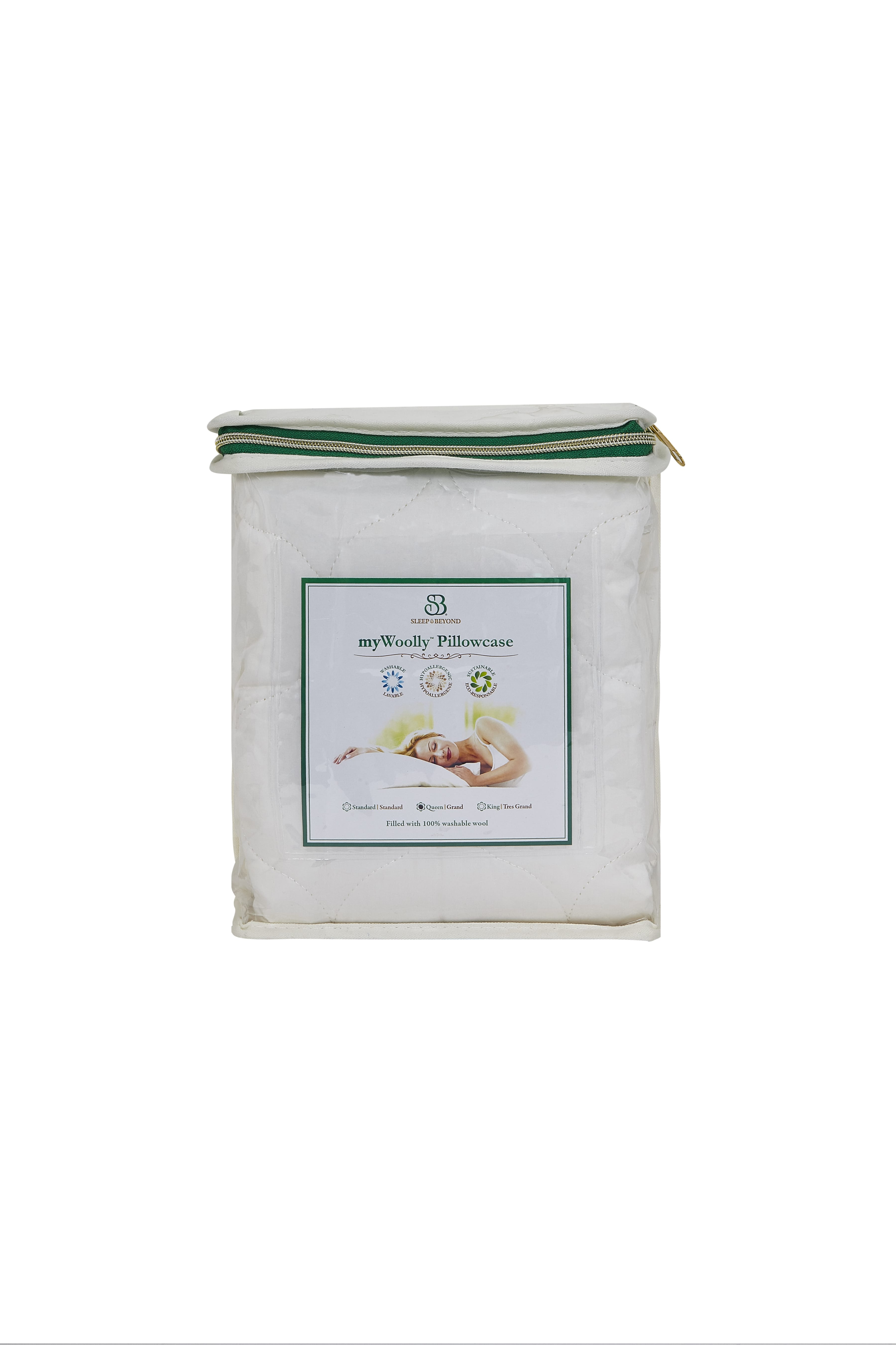 Washable Wool Pillow Case By Comfort Pure