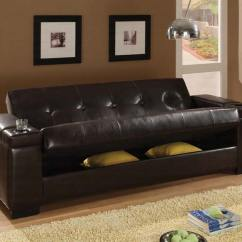 Convertible Sofa Beds New York High Quality Brands Dark Brown Pu 300143 Bed By Coaster