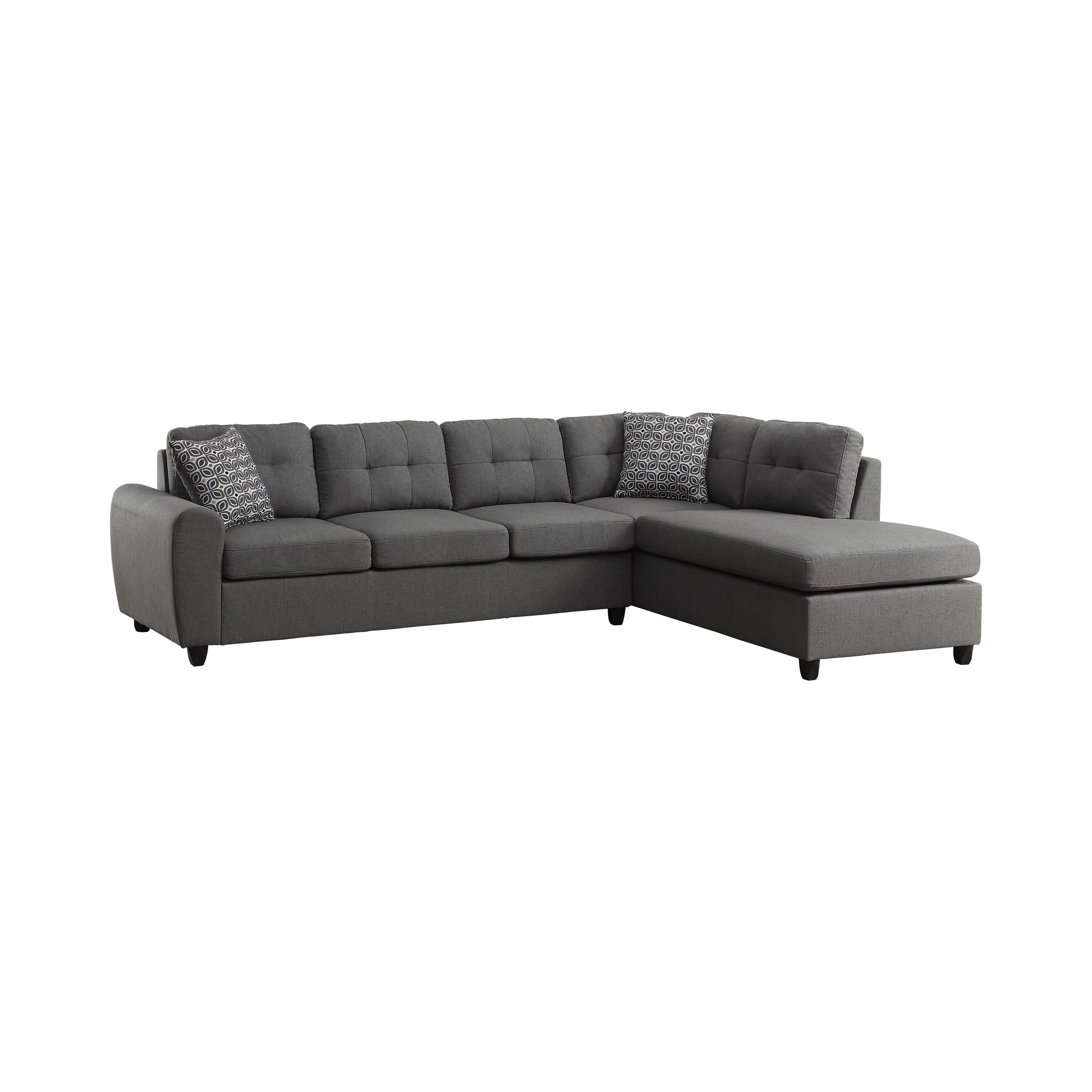 stonenesse grey tufted sectional sofa by coaster fine furniture