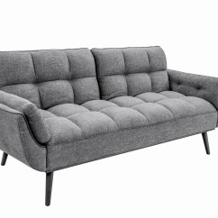 Daria Serta Gray Convertible Sofa Fabric Modern Sectional Candice Dark By Lifestyle