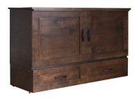 Country Style Premium Cabinet Bed (Murphy Bed) by CabinetBed