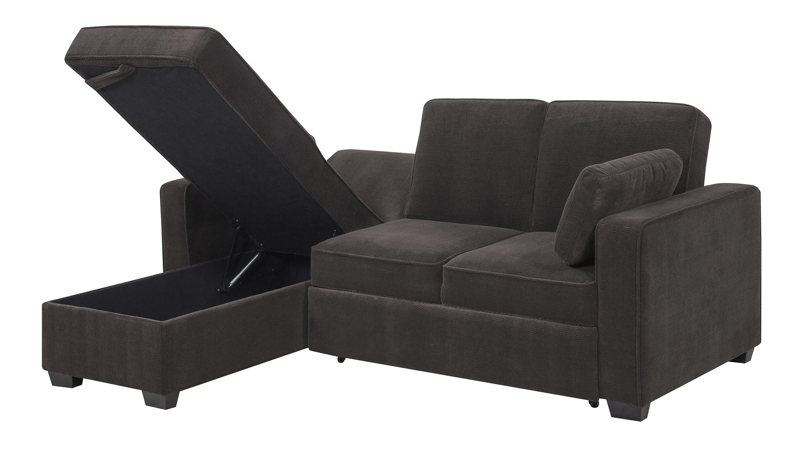 daria serta gray convertible sofa leather corner with recliner sectional sleeper baci living room