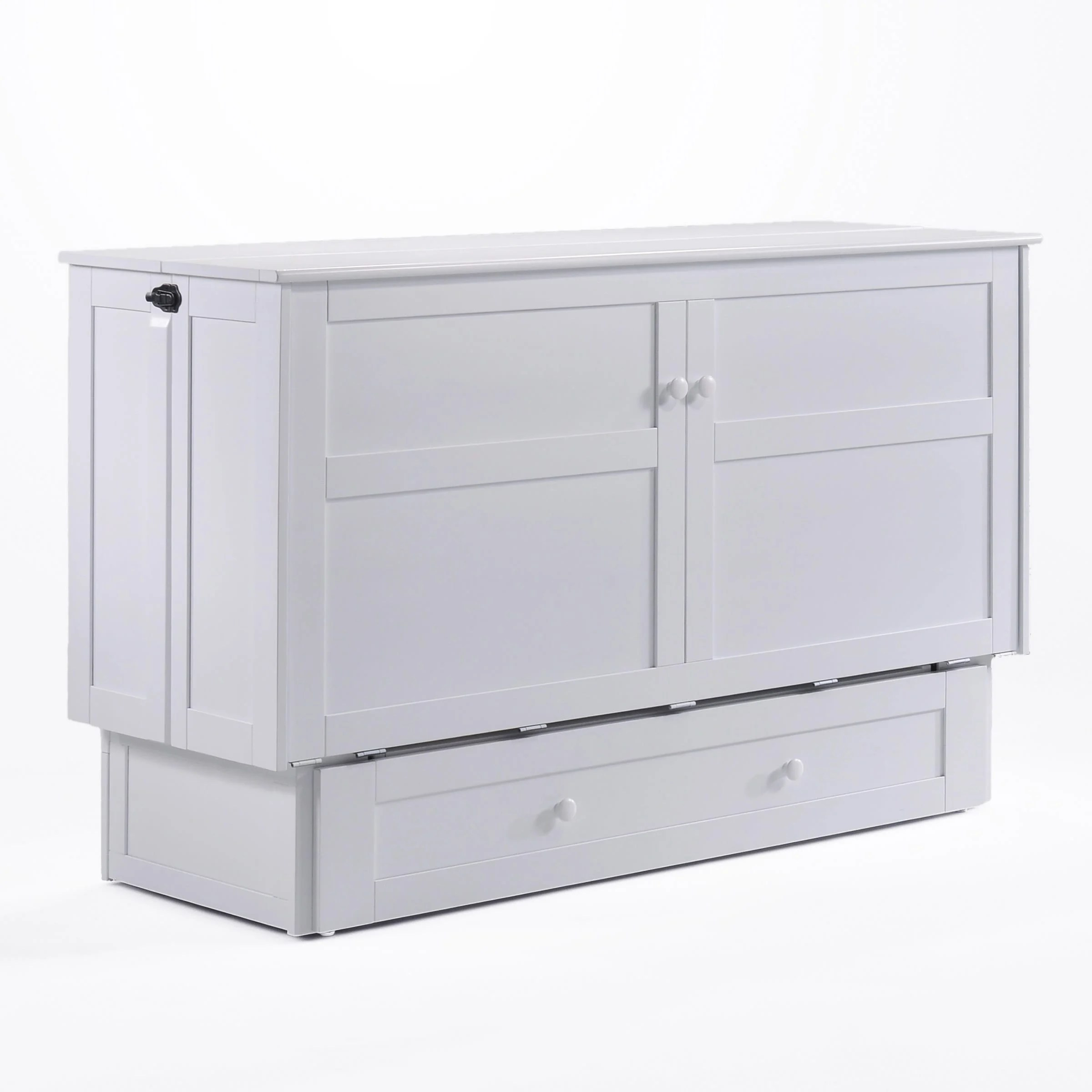 Clover Queen Murphy Cabinet Bed White by NightDay Furniture