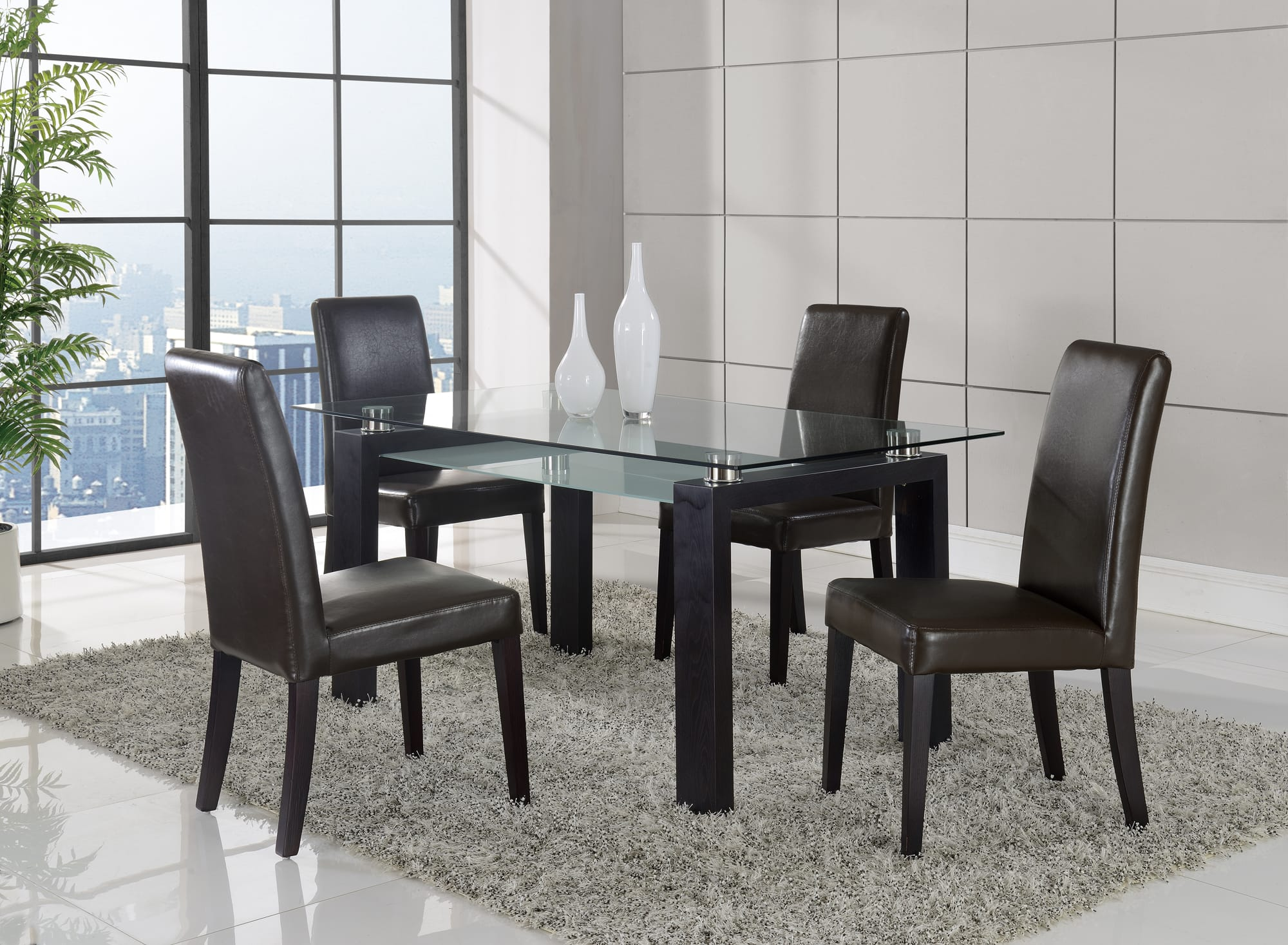 black walnut kitchen table modern undermount sink dining d646dt by global furniture