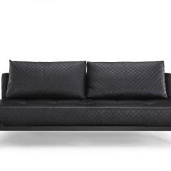 Serta Bonded Leather Convertible Sofa Table Storage Denmark Black By Lifestyle