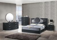 Dolce Dark Grey Glossy Bedroom Set by Global Furniture