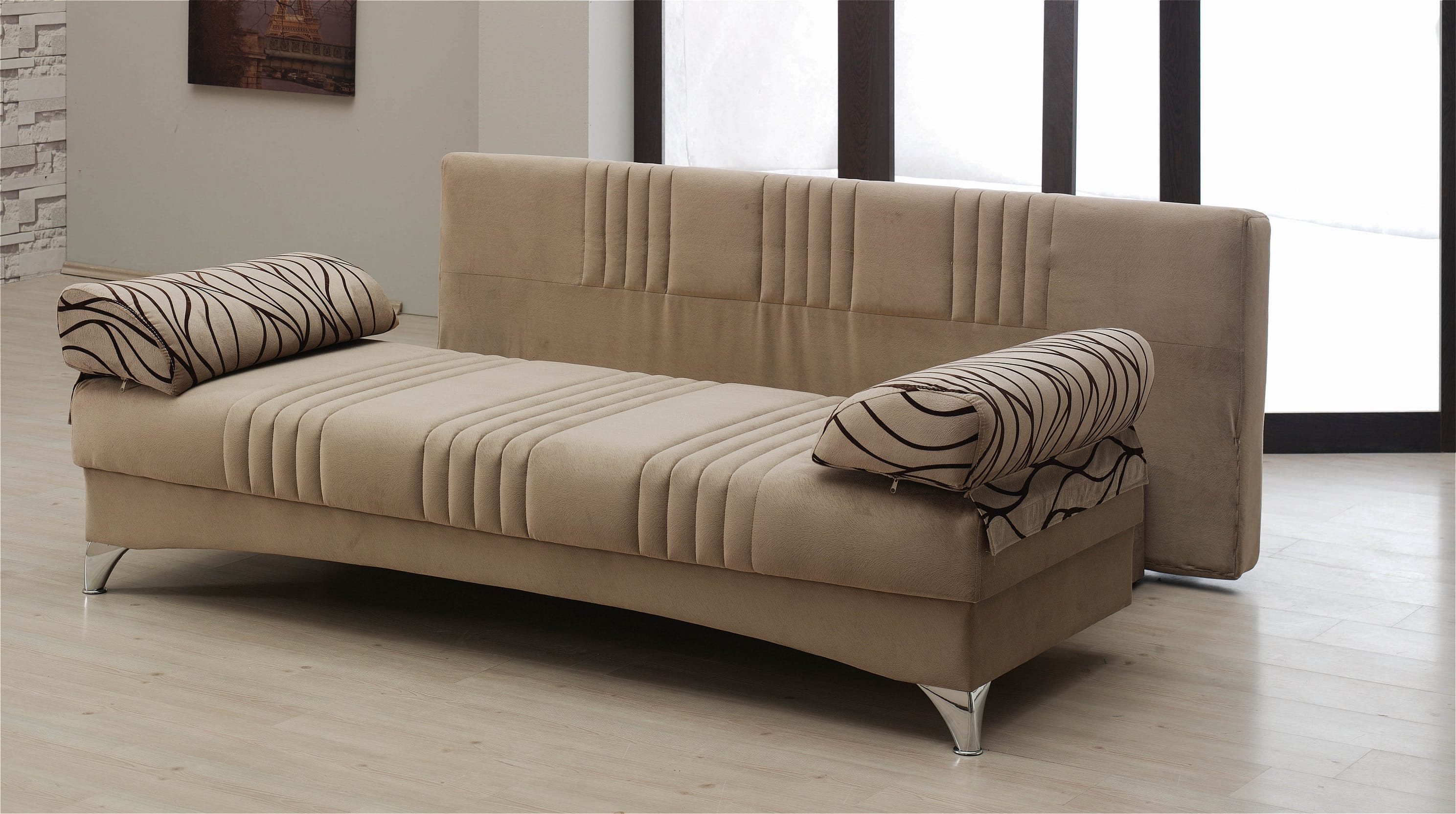 Daisy Light Brown Sofa Bed by Empire Furniture USA