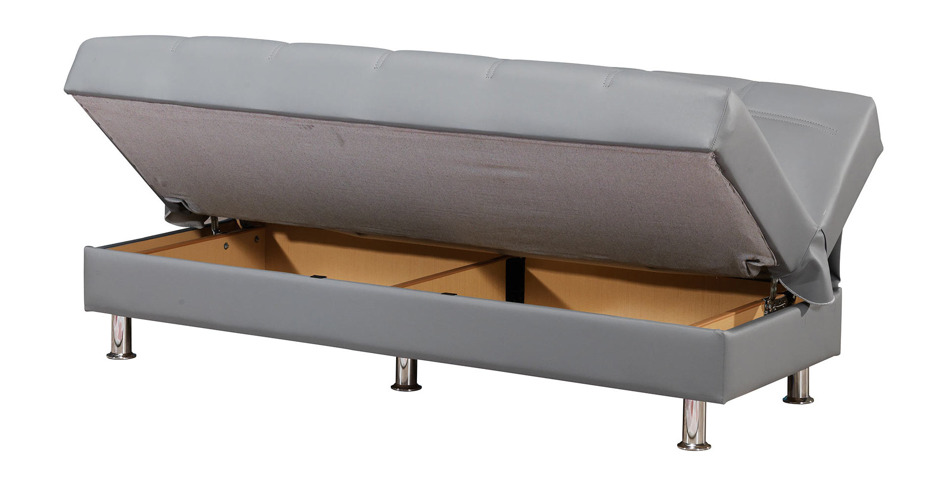 leatherette sofa washing multiyork covers eco rest zen gray by casamode