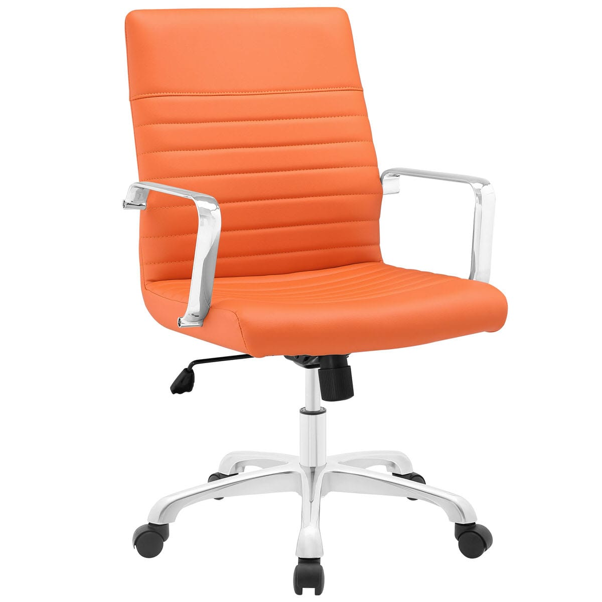 Orange Office Chairs Finesse Mid Back Office Chair Orange By Modern Living