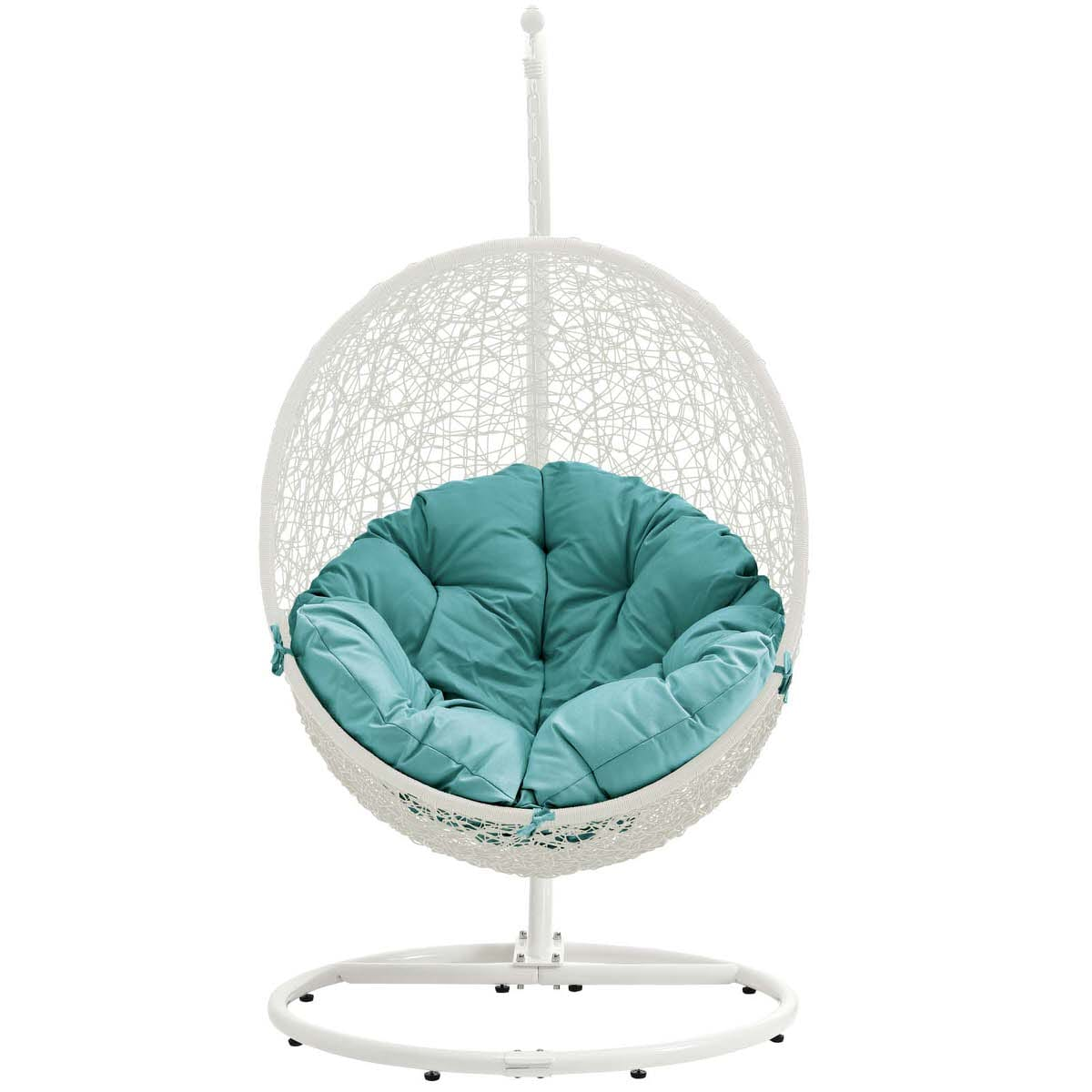 Chair Stand Hide Outdoor Patio Swing Chair With Stand White Turquoise