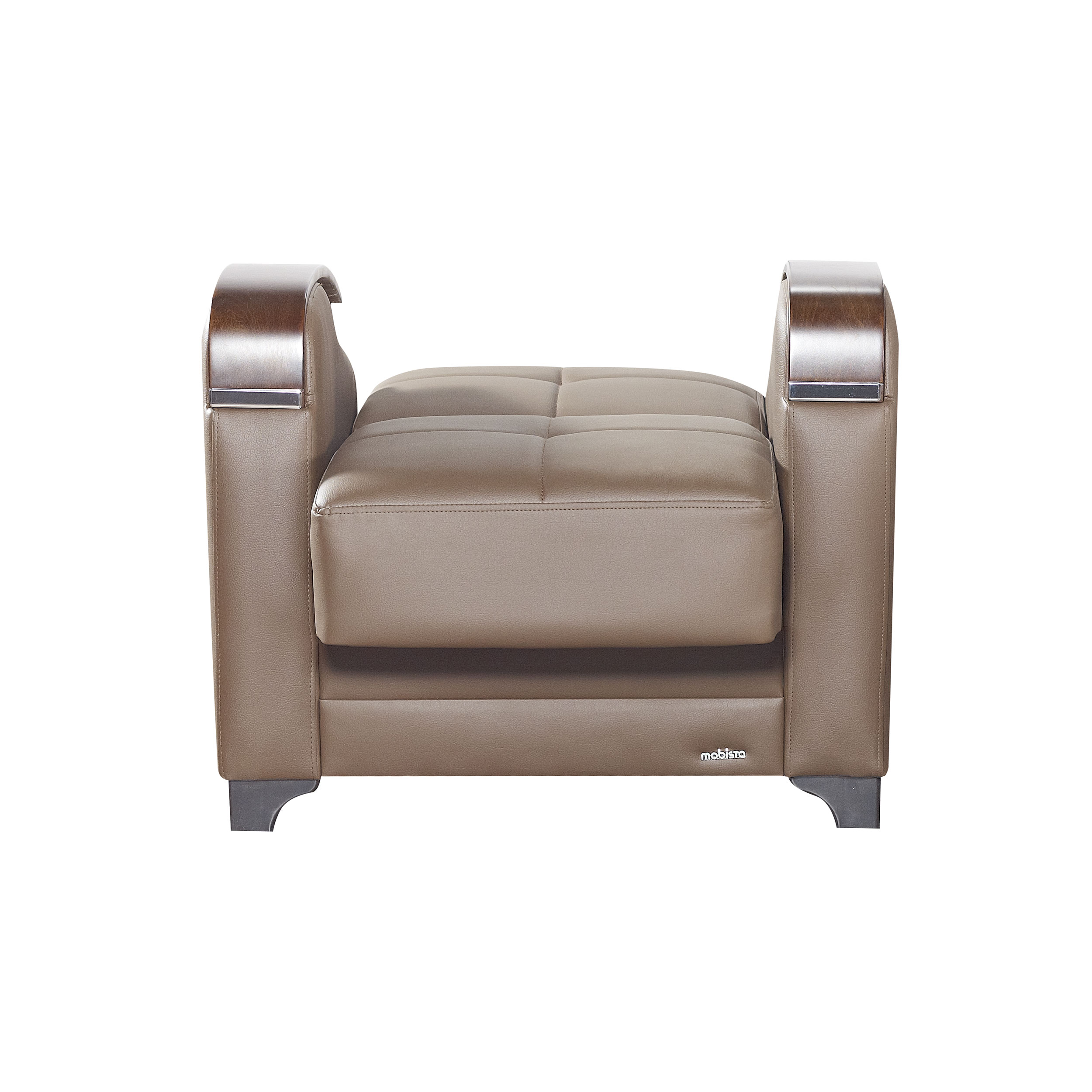 leatherette sofa durability feather filled etro prestige brown armchair by mobista