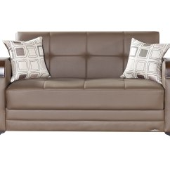 Leatherette Sofa Durability Blue Striped Slipcovers Etro Prestige Brown Loveseat Bed By Mobista