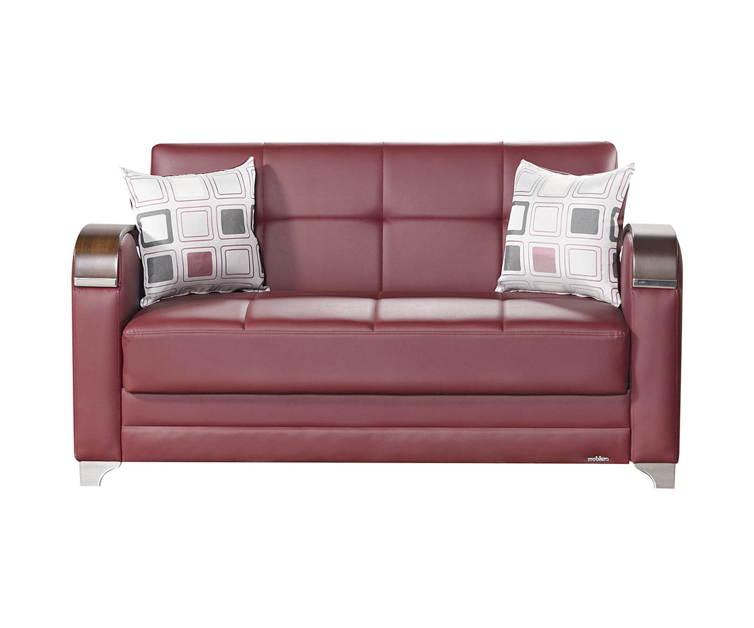 leatherette sofa durability super store fire etro prestige burgundy loveseat bed by mobista