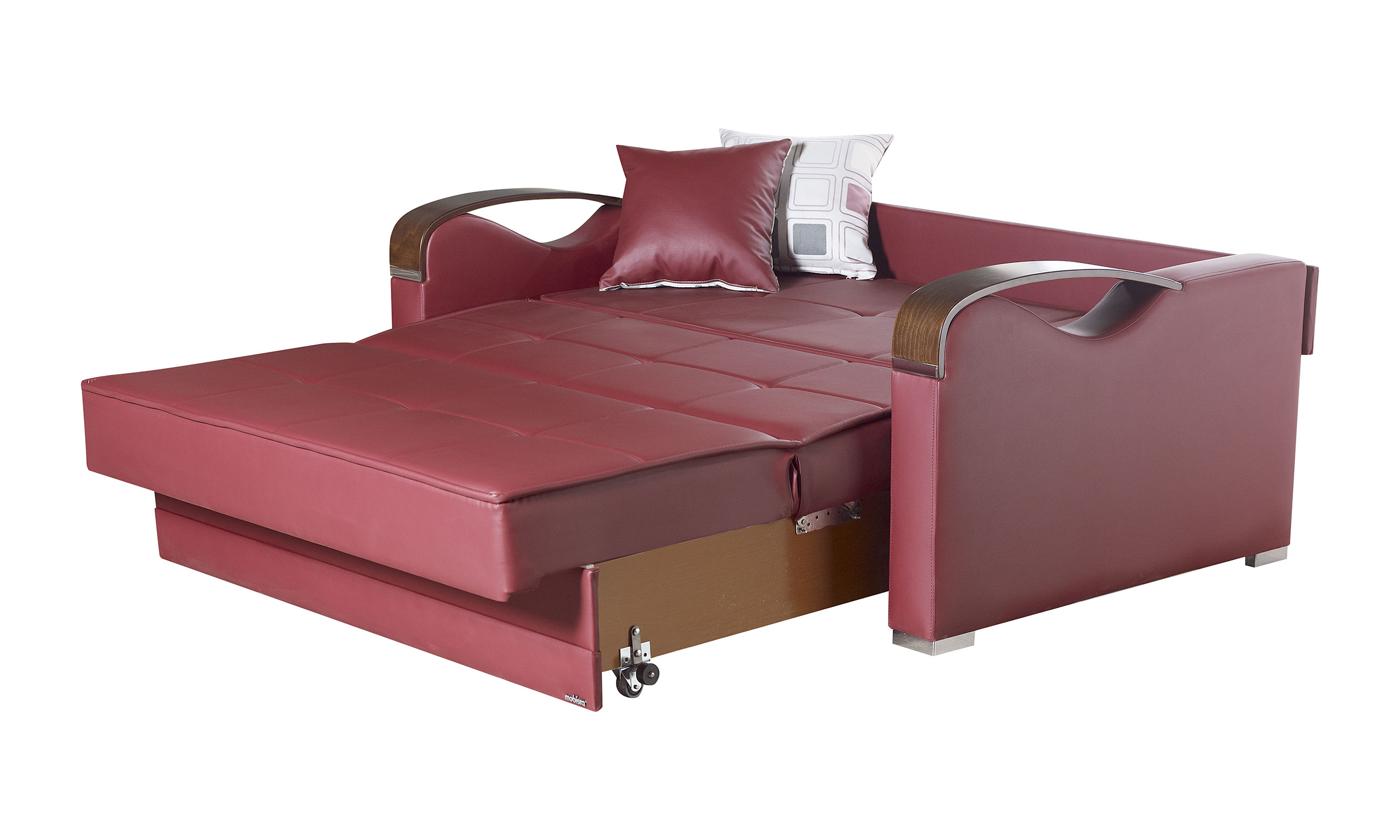 leatherette sofa durability italy bed etro prime prestige burgundy loveseat by