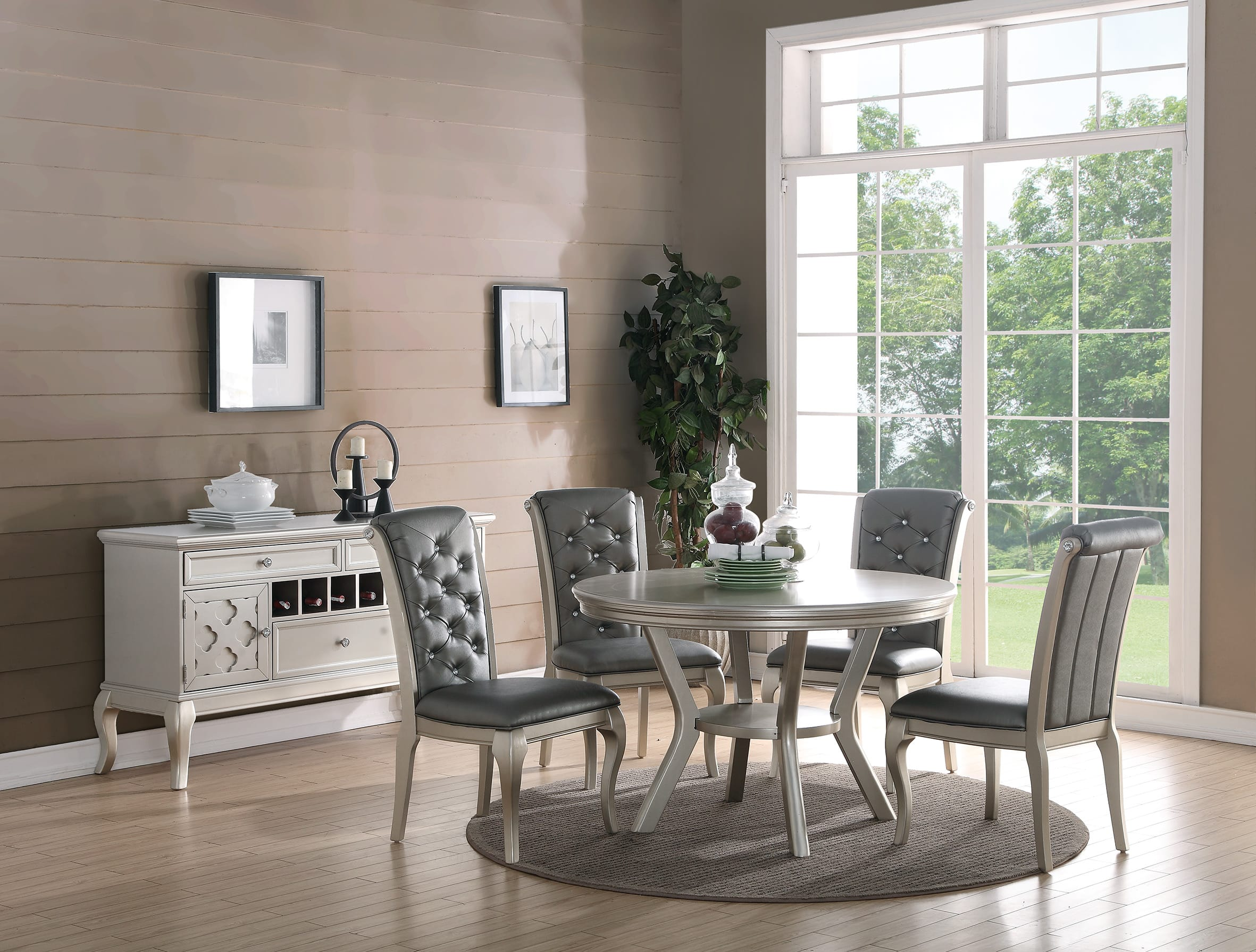 Dining Chair Set Of 2 F1540 Gray Dining Chair Set Of 2 By Poundex