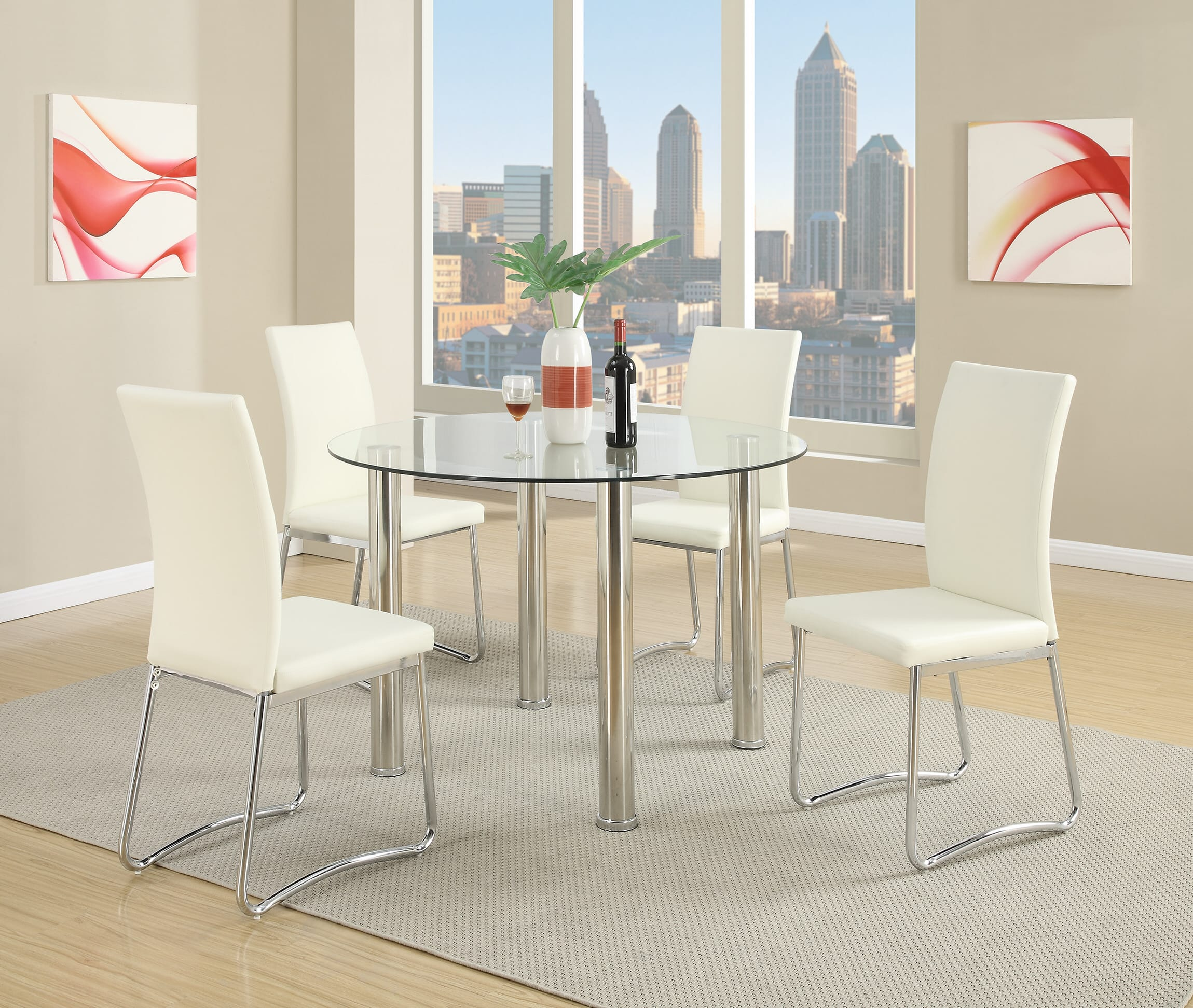 White Dining Room Chair F1438 White Dining Chair Set Of 2 By Poundex