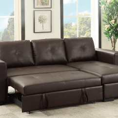 Sectional Convertible Sofa Cama Para Perros Grandes F6930 Espresso By Poundex