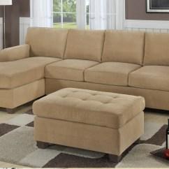 Sectional Sofa Deals Free Shipping O Kitty Flip Open F7130 Khaki Set By Poundex