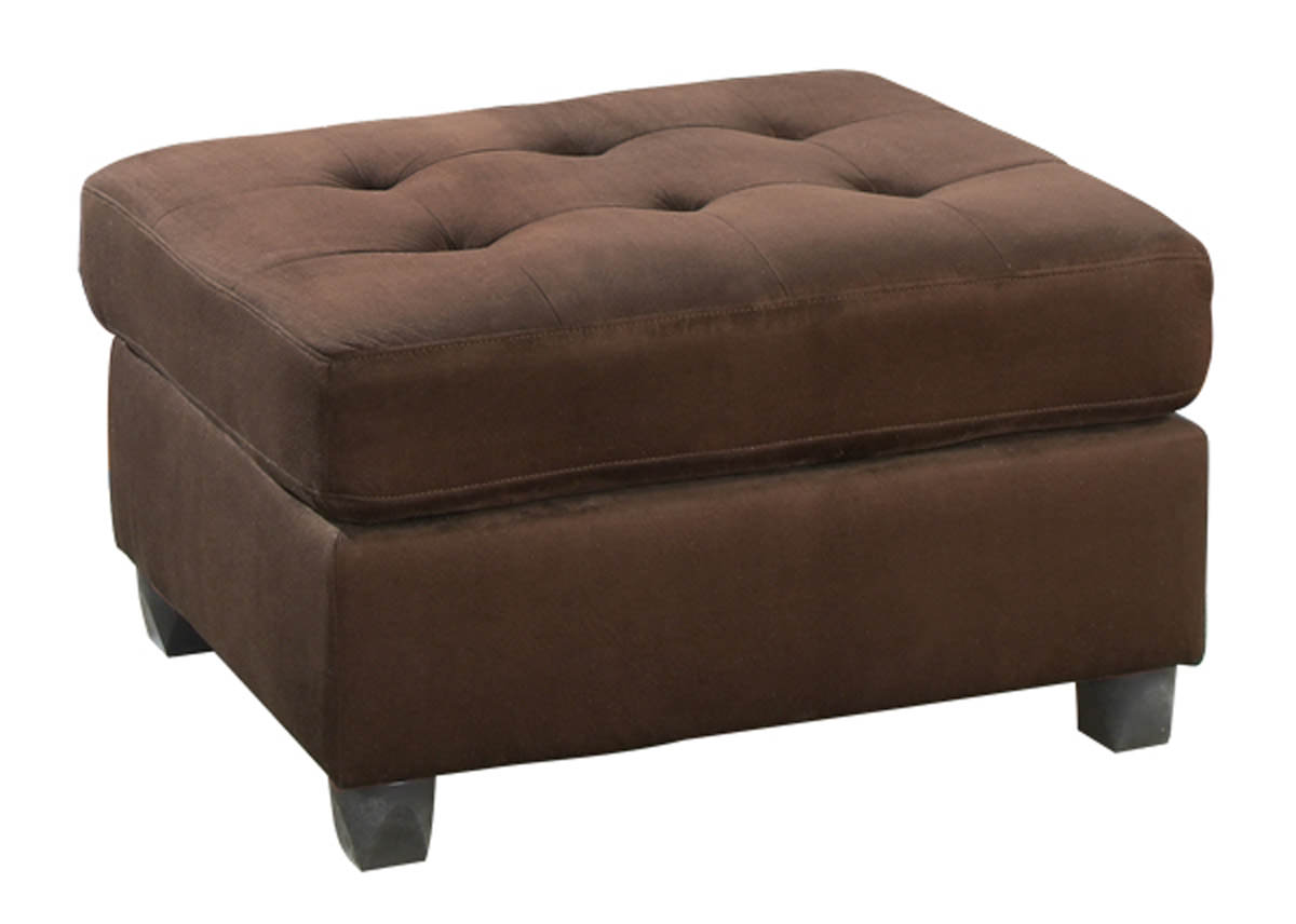 F7154 Chocolate Cocktail Ottoman by Poundex
