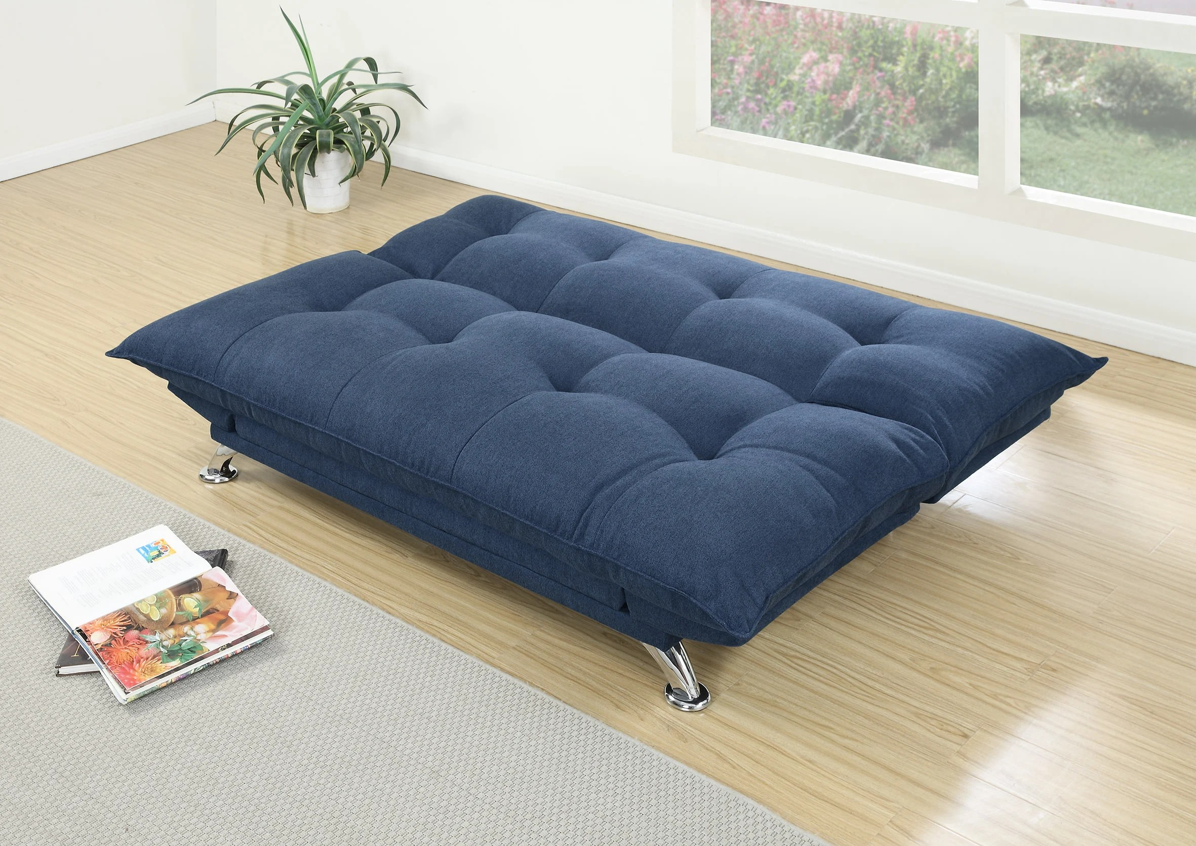 index mulberry sofa bed formal sets f7899 navy convertible by poundex