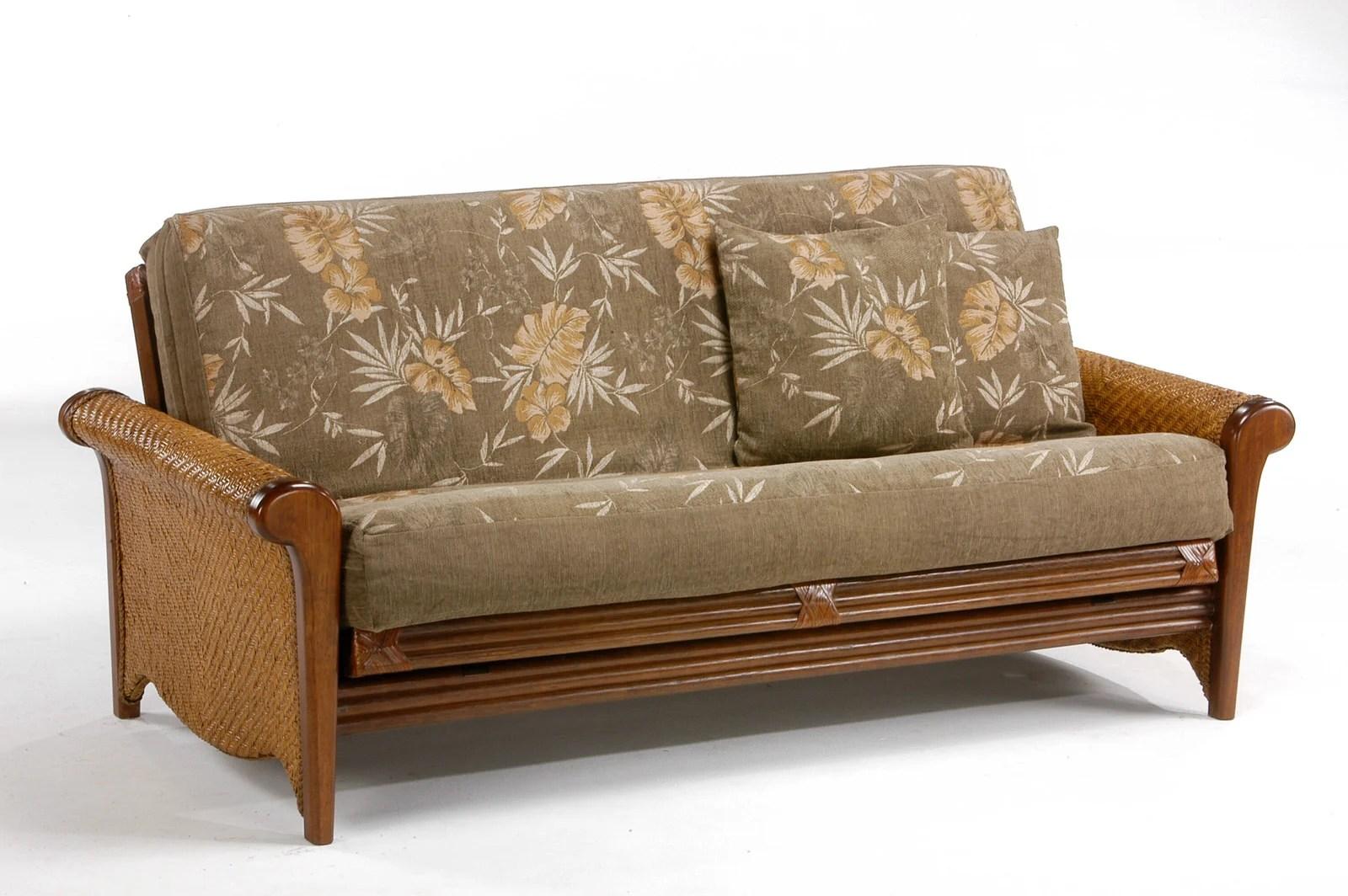 Rosebud Rattan Futon Frame By NightampDay Furniture