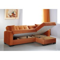 Kubo Rainbow Orange Sectional Sofa by Istikbal (Sunset)