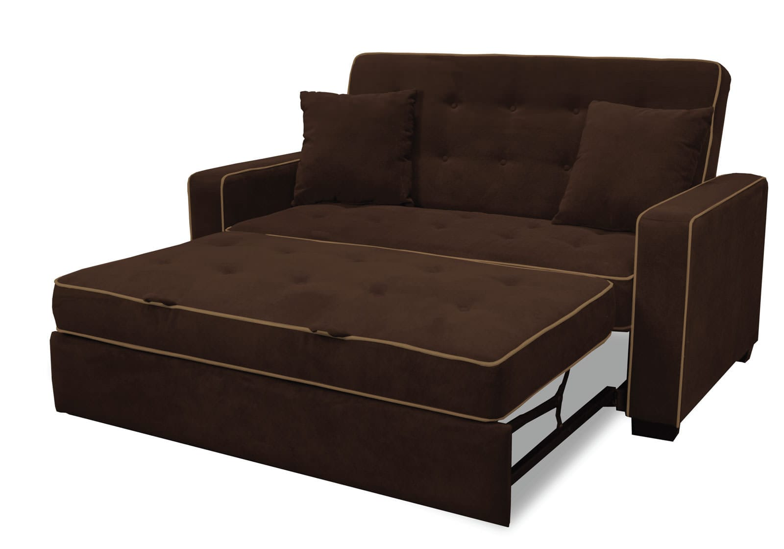 best sofa bed loveseat one arm augustine full size sleeper java by serta lifestyle