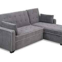 Sofa Sleeper Clearance 2 Seater Fabric Recliner Augustine Sectional Moon Grey By Serta / Lifestyle