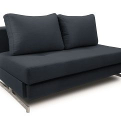 Modern Sleeper Sofa Loveseat Friheten Black Fabric Queen K43 2 By Ido
