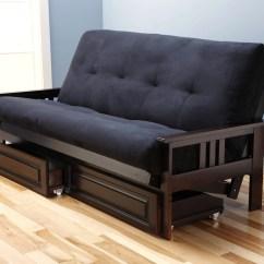 Queen Sofa Bed No Arms Hooker Tables Monterey Futon Frame Espresso By Kodiak