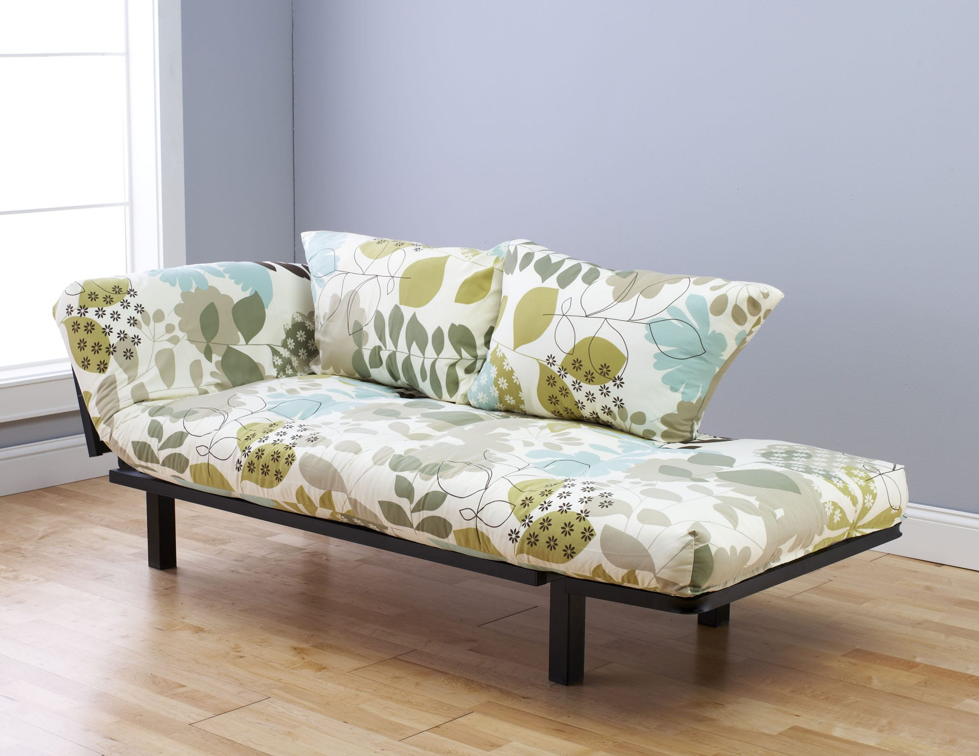 metal chair covers crate and barrel dining chairs spacely futon daybed/lounger with mattress english garden by kodiak