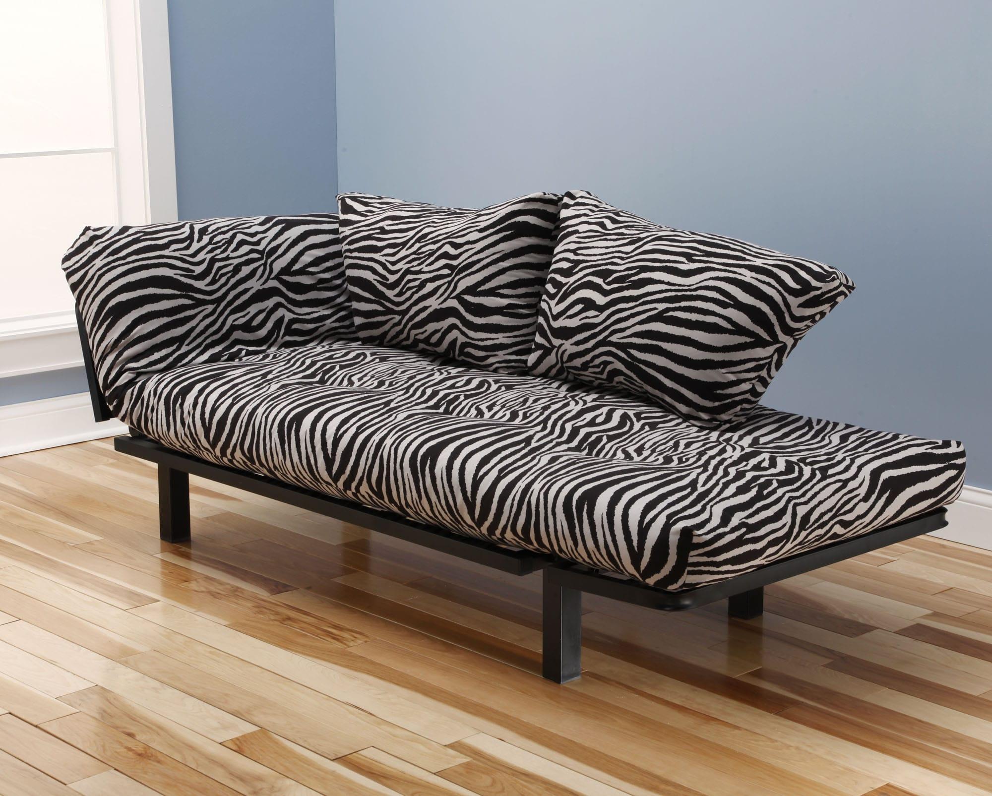 deer print sofa covers victorian chaise lounge zebra futon