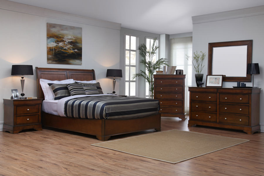 Kingston Dark Walnut Bedroom Set by Lifestyle Solutions