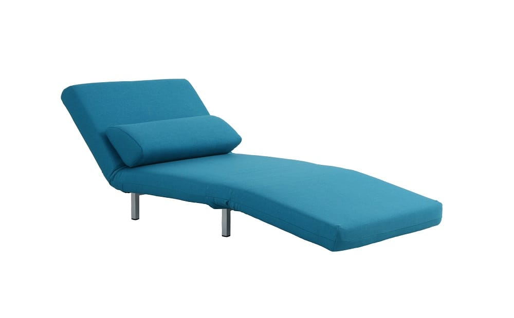 tomas fabric sofa chaise convertible bed dark java danish leather sydney teal chair lk06 by ido