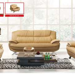Living Room Chair Best Post Back Surgery 405 Brown Leather Sofa Set By Esf