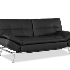 Leather Sofa Furniture Stores Nyc How To Make Your Own Set Matrix Convertible Bed Black By Lifestyle Solutions