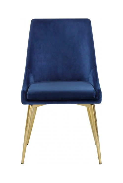 small resolution of karina navy blue gold velvet dining chairs set of 2 by meridian furniture