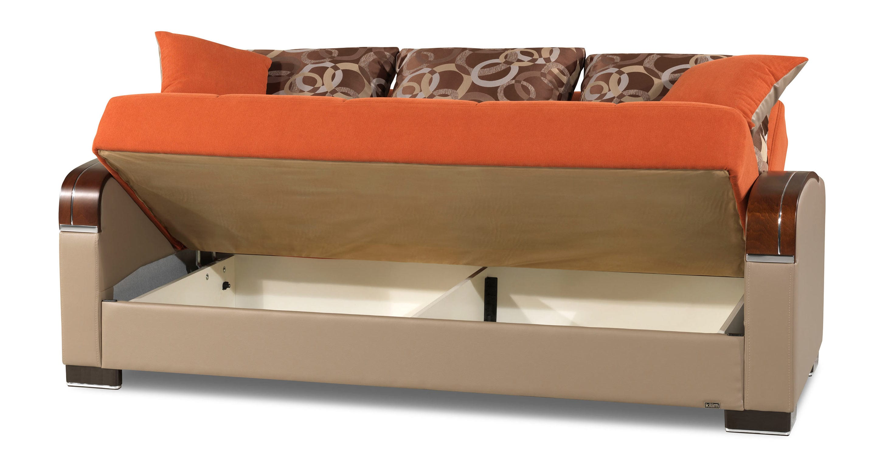 newport sofa convertible bed chaise cover mobimax orange by casamode