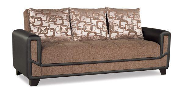 Mondo Modern Brown Convertible Sofa Bed Casamode