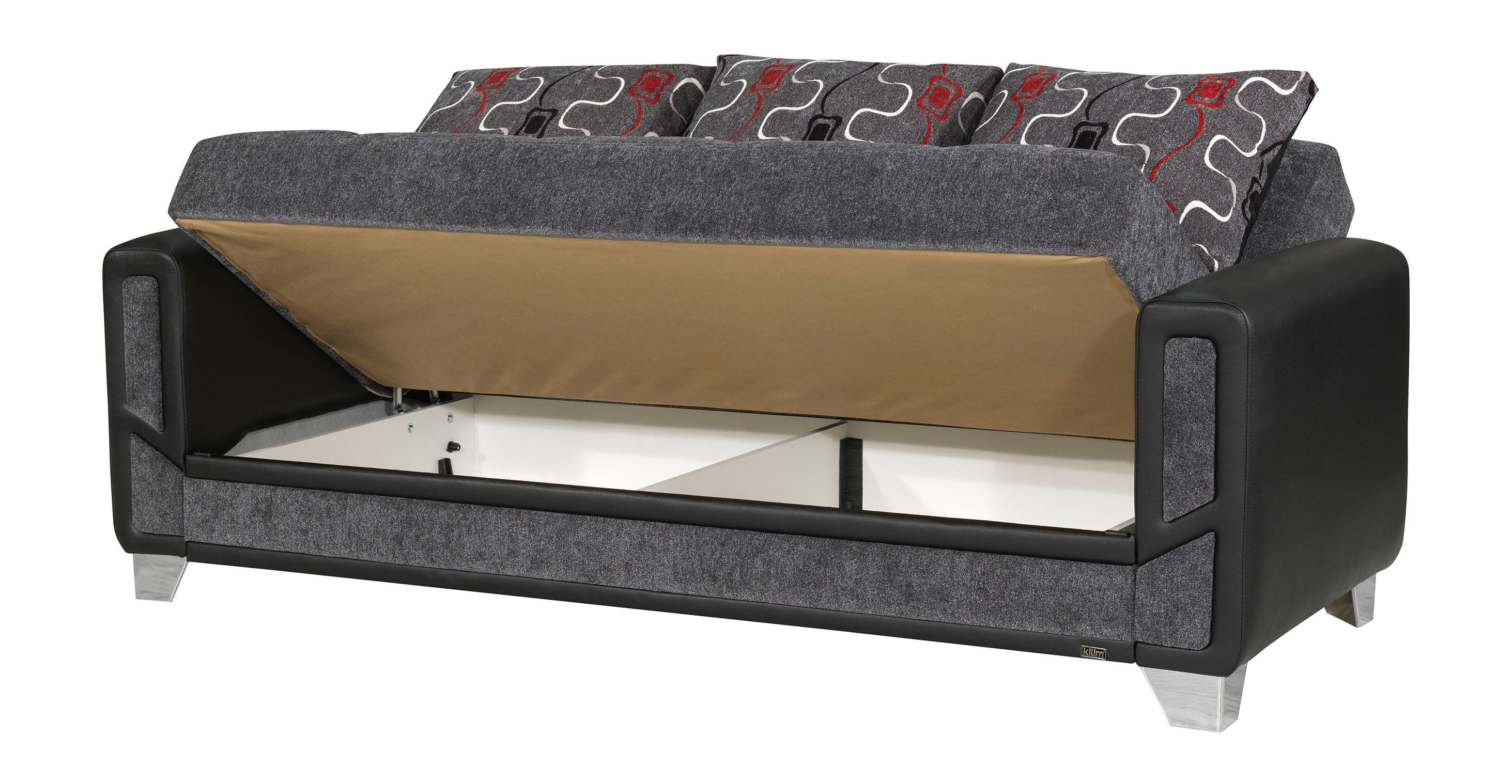 contemporary grey sofa bed tantra dimensions mondo modern convertible by casamode