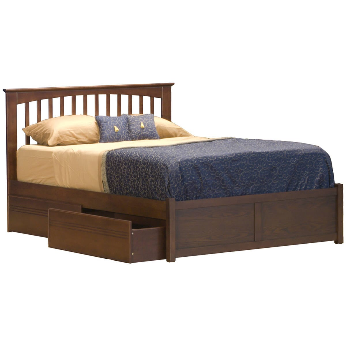 Mission Espresso Platform Bed By Atlantic Furniture